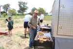 Kenneth Wheelwright on the much appreciated BBQ