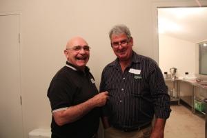 Ngambri Aboriginal Elder Shane Mortimer with Dalton Biodynamic Lamb producer Vince Heffernan