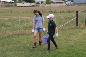 Tambelin Student Bella McIntosh with Taralga Student Madeline Croker