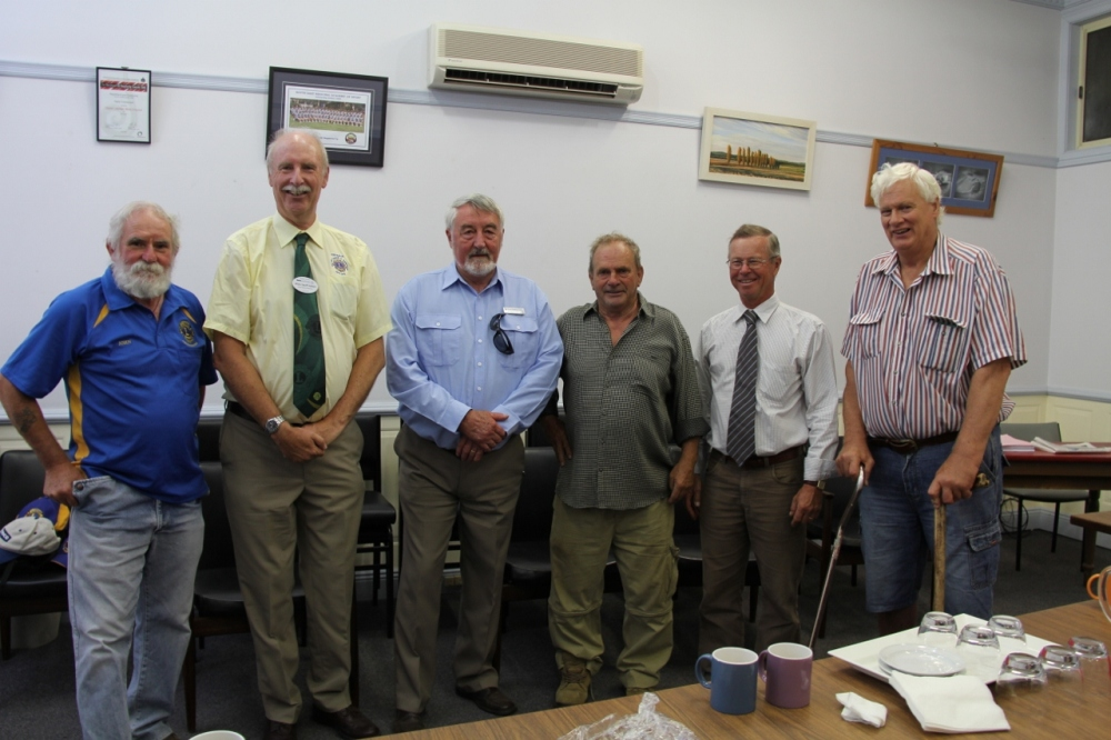 Sharing stories about the late Mr Pat Cullen and the Kiamma Creek Reserve: From left: John  Gray; Geoff Hobart, Paul Stephenson, Barry Murphy, Mayor John Shaw, Peter Cullen